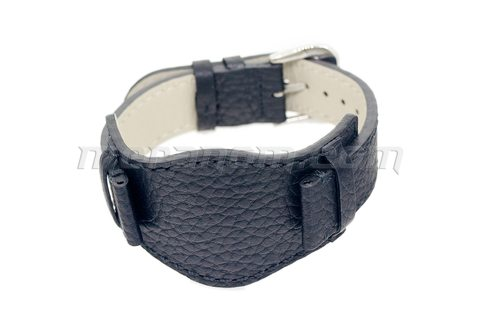 Vostok Watch Black leather bund strap 18 mm.