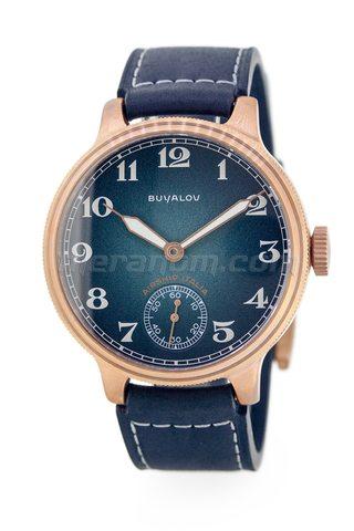 Buyalov Airship Italia Blue Designer orologi in bronzo