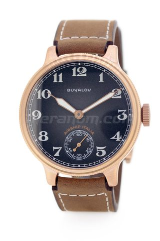 Buyalov Airship Italia Black Brown Designer Bronze Watches