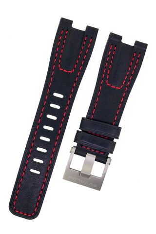 Strap RR02 leather red stitching