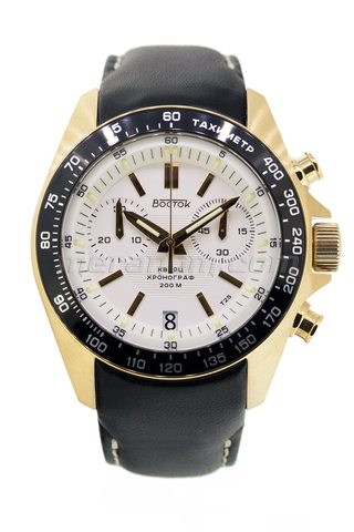 Vostok Watch K39 Quartz Chronograph IPG
