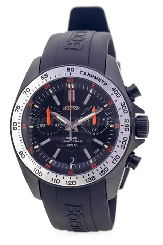 Orologi Vostok K39 Quartz Chronograph Orange PU strap