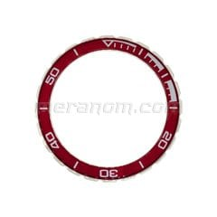 Bezel 02ku3 Stainless steel red