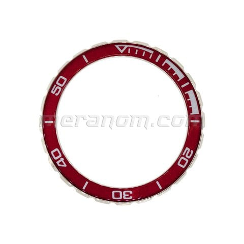 Vostok Watch Bezel 02ku3 Stainless steel red