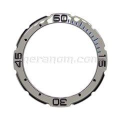 Bezel 16k2 blue Stainless steel