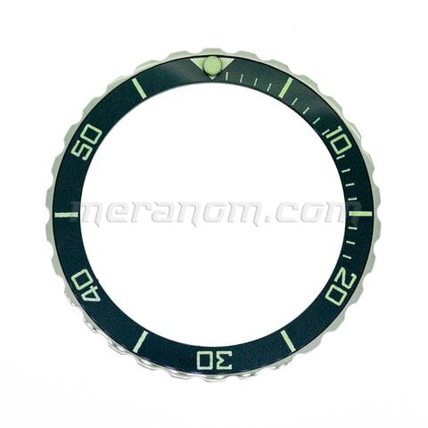 Stainless still universal bezel with ceramic insert