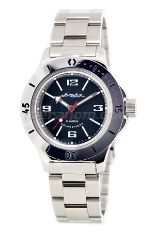 Vostok Watch Amphibian Classic 120509 with solid bracelet