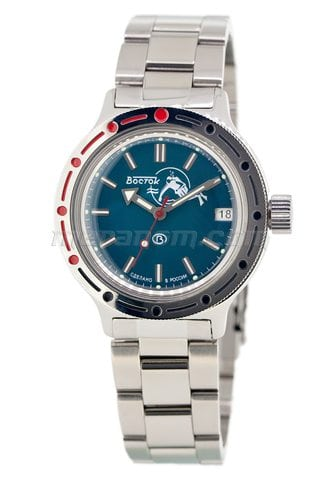 Vostok Watch Amphibian Classic 420059 with solid bracelet