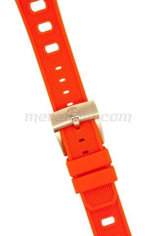 Vostok relojes Silicon Strap 22mm Orange 1967 with bronze buckle