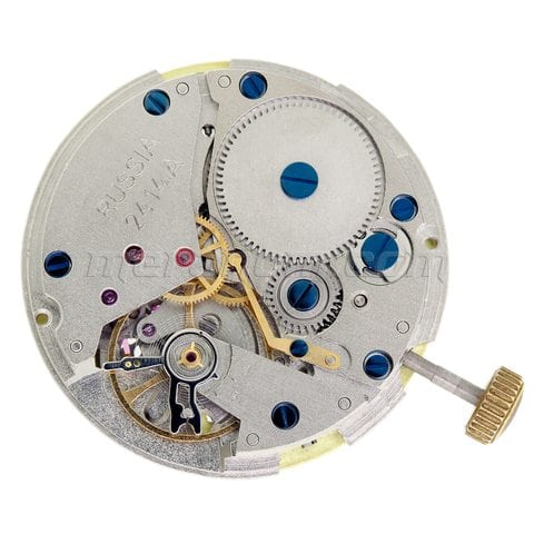 Vostok Watch 2414A movement blued screws