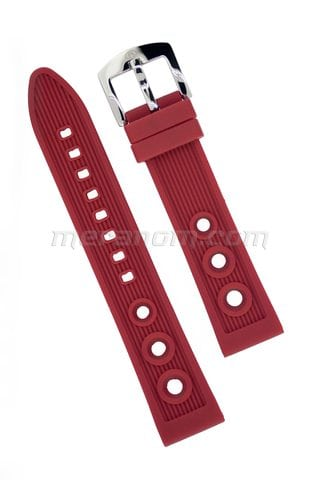 Vostok Watch Silicon Strap Anti Dust 20mm Red