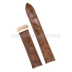 Brown leather strap 20mm deployment folding clasp