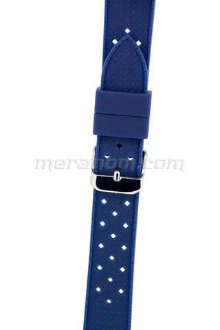 Силиконовый  ремешок 18 мм  синий(антипылевое покрытие)