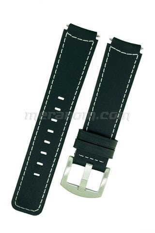 Buyalov Type-B Airship Italia Black Leather Strap, 18mm