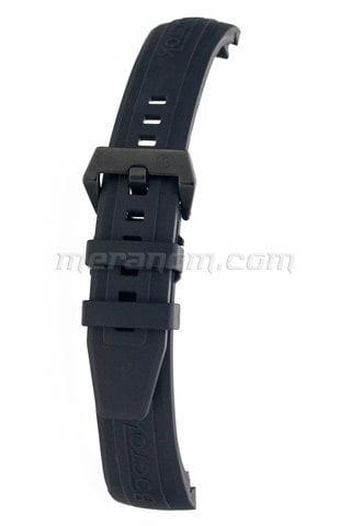 K39 Black PU Band PVD Stainless Steel Buckle