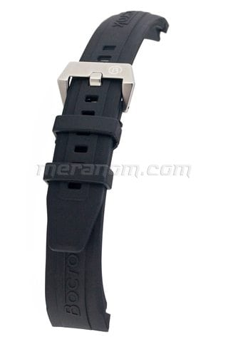 K39 Black PU Band Brushed Stainless Steel Buckle