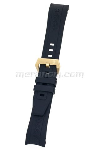 K39 Black PU Band IPRG Stainless Steel Buckle