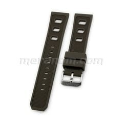 Silicon Strap 22mm Brown
