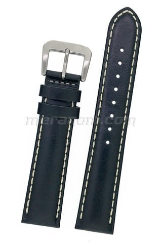 Orologi Vostok Leather Strap white stitching 20mm