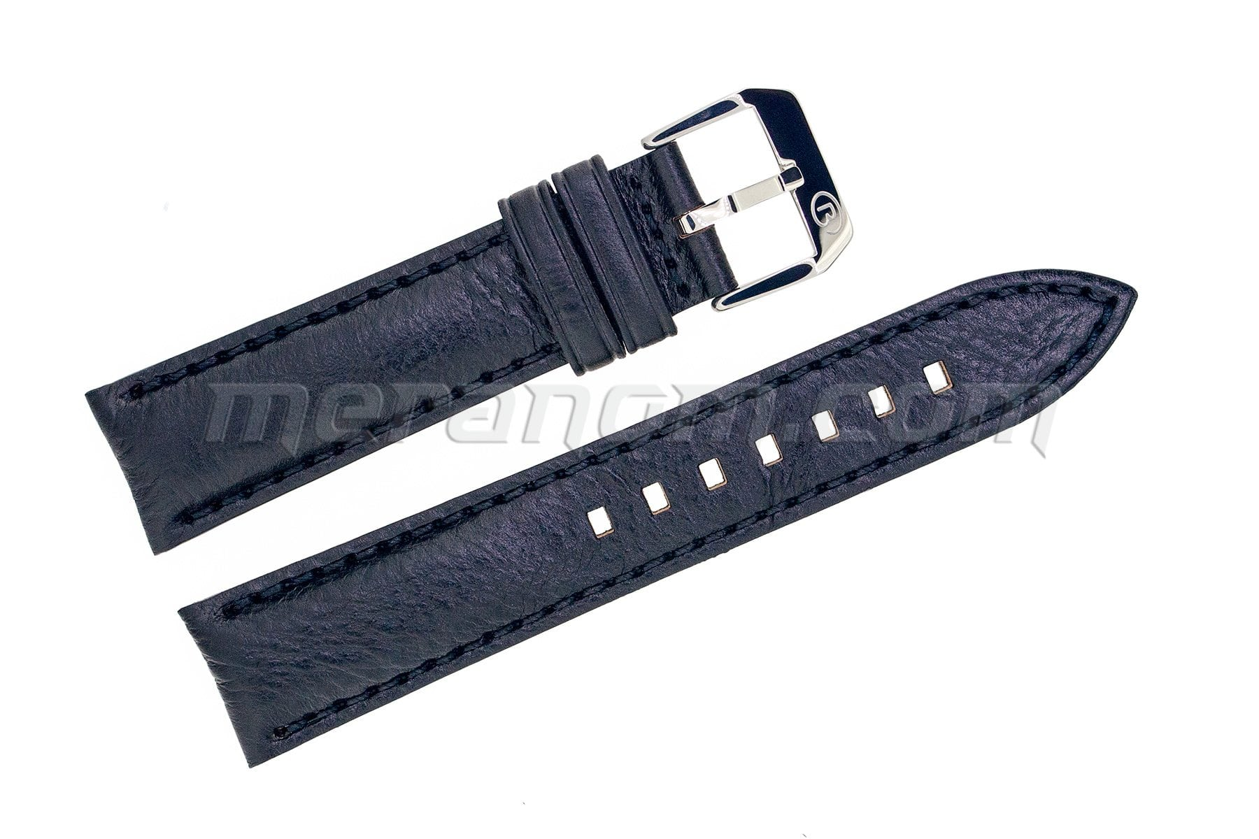 Vostok watch black leather strap silver buckle 20mm buy from an authorized dealer for Black leather strap