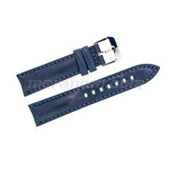 Blue leather strap silver buckle 20mm