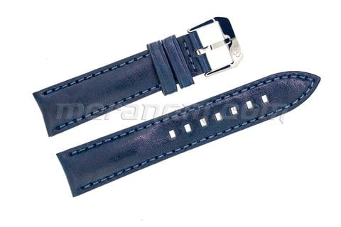 Vostok Watch Blue leather strap silver buckle 20mm