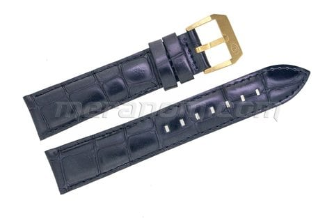 Vostok Watch Black leather strap 20mm yellow buckle