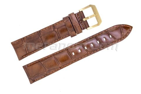 Vostok Watch Brown leather strap 20mm yellow buckle