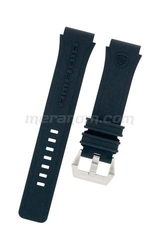 Vostok Watch Strap for Amfibia Scuba Black SS Buckle