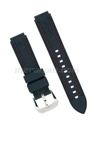 Vostok relojes PU Strap 18 mm red stitching