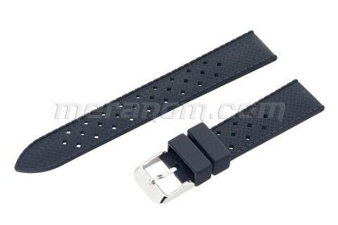 Часы Восток Силиконовый  ремешок 18 мм  черный(антипылевое покрытие)