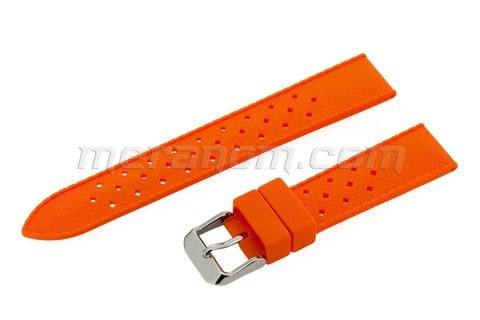 Vostok Watch Silicon Strap Anti Dust 18mm Orange