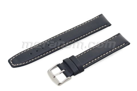 Water Resistance Leather Strap 18mm XL Black