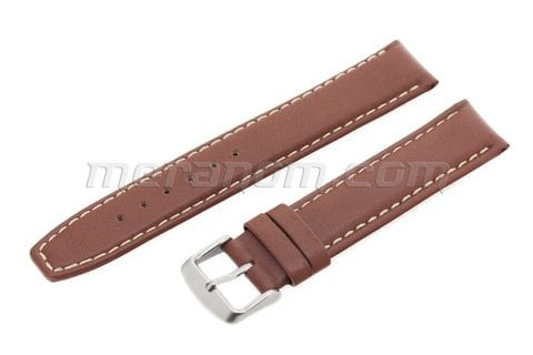 Vostok Watch Water Resistance Leather Strap 18mm XL Brown
