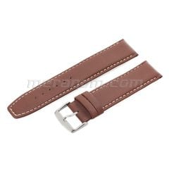 Water Resistance Leather Strap 22mm XL Brown