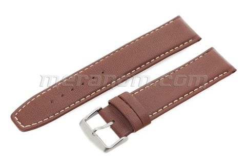 Vostok Watch Water Resistance Leather Strap 22mm XL Brown