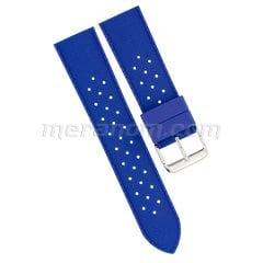 Силиконовый  ремешок 22 мм  Синий (антипылевое покрытие) 281
