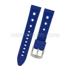 Силиконовый  ремешок 20 мм  синий(антипылевое покрытие)