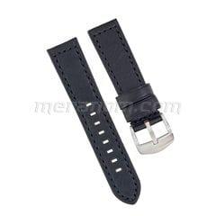 Ремешок 1967 черный 22 мм кожаный