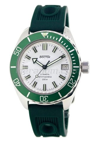 Vostok Watch Amphibian SE 020B34 green polished