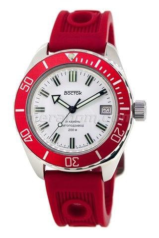 Orologi Vostok Amphibian SE 020B34 red polished