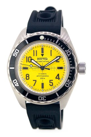 Vostok Watch Amphibian SE 020B36 yellow brushed