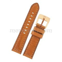 Leather strap 1967 22mm brown with bronze buckle