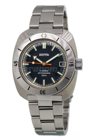 Vostok Watch Amphibian SE 710B35B with solid bracelet