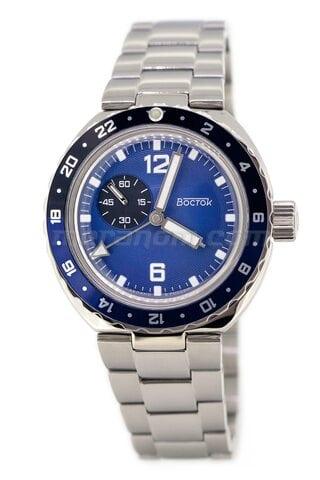 Часы Восток Амфибия 960B42 черно-синий безель Якорь