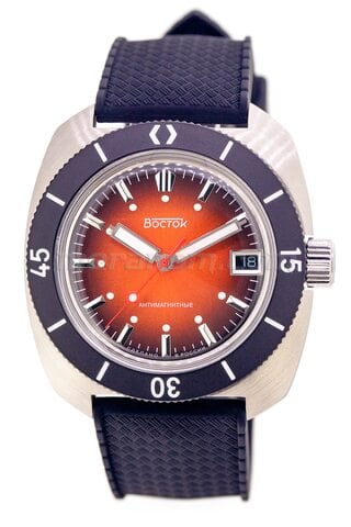 Vostok Watch Amphibian SE 710B44S Icebreacker orange