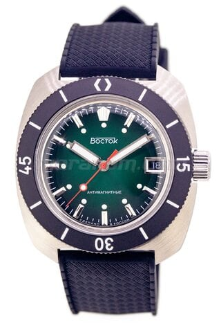 Vostok Watch Amphibian SE 710B46S Icebreacker Green