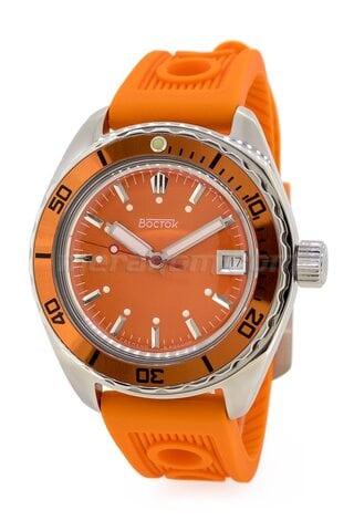 Vostok Watch Amphibian SE 020B51 Icebreacker Orange