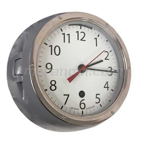 Ship Clock 5-ChM grey case, arabic numerals
