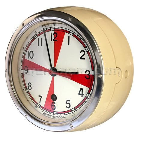 Vostok Watch Ship Clock 5-ChM Radioroom ivory case